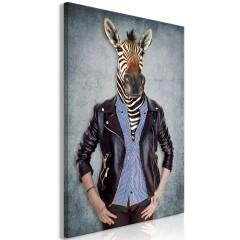 Artgeist Wandbild - Zebra Ewa (1 Part) Vertical