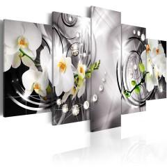 Artgeist Wandbild -  Orchid, pearls and diamonds