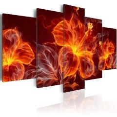 Artgeist Wandbild - Fiery Flowers