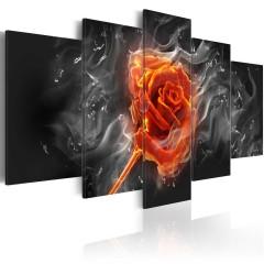 Artgeist Wandbild - Fiery Rose