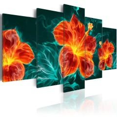 Artgeist Wandbild - Flaming Lily