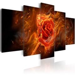 Artgeist Wandbild - Flaming Rose