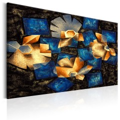 Artgeist Wandbild - Geometrical Flowers