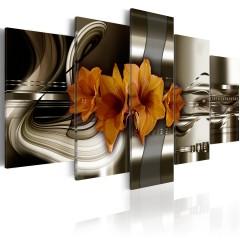 Artgeist Wandbild - Ritterstern mit abstrakten Wellen