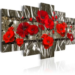 Artgeist Wandbild - Silver Poppies