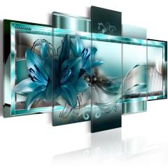 Artgeist Wandbild - Sky Blue Lilies