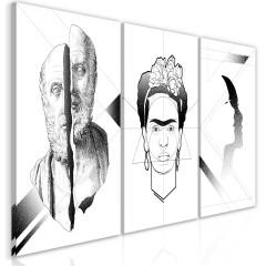 Artgeist Wandbild - Facial Composition (3 Parts)