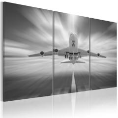 Artgeist Wandbild - In Richtung der Wolken - Triptychon
