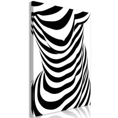 Artgeist Wandbild - Zebra Woman (1 Part) Vertical