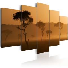 Artgeist Wandbild - Nebel über der Savanne
