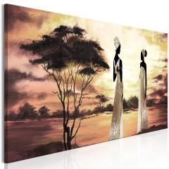 Artgeist Wandbild - African Goddesses (1 Part) Narrow