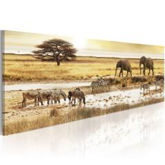 Artgeist Wandbild - Africa: at the waterhole