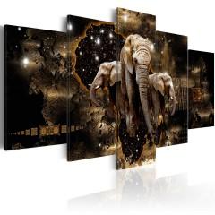 Artgeist Wandbild - Brown Elephants