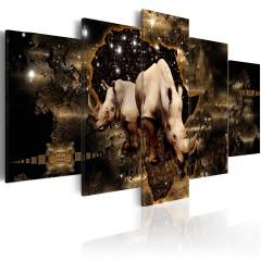 Artgeist Wandbild - Golden Rhino