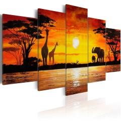 Artgeist Wandbild - Heiße Safari