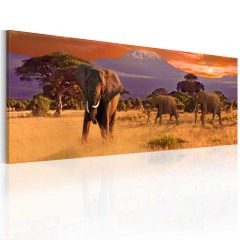 Artgeist Wandbild - March of african elephants