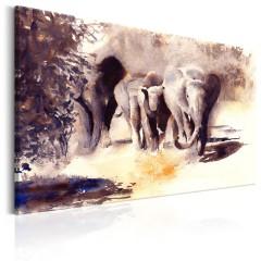 Artgeist Wandbild - Watercolour Elephants