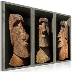 Artgeist Wandbild - Moai (Easter Island)