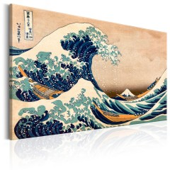 Artgeist Wandbild - The Great Wave off Kanagawa (Reproduction)