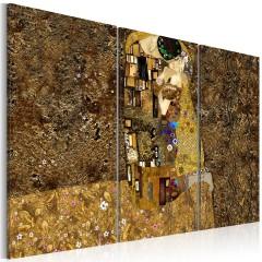 Artgeist Wandbild - Klimt Inspiration - Der Kuss