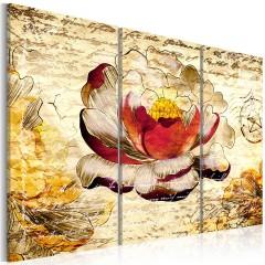 Artgeist Wandbild - Blume im Retro Stil