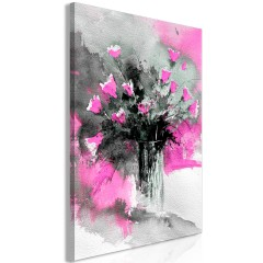 Artgeist Wandbild - Bouquet of Colours (1 Part) Vertical Pink
