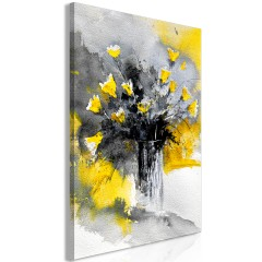 Artgeist Wandbild - Bouquet of Colours (1 Part) Vertical Yellow
