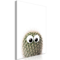 Artgeist Wandbild - Cactus With Eyes (1 Part) Vertical
