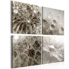 Artgeist Wandbild - Grey Dandelion