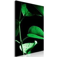 Artgeist Wandbild - Plant in Black (1 Part) Vertical
