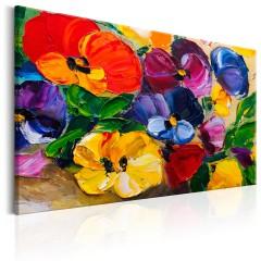 Artgeist Wandbild - Spring Pansies