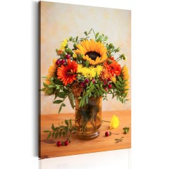 Artgeist Wandbild - Autumnal Flowers