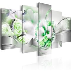 Artgeist Wandbild - Emerald Bouquet