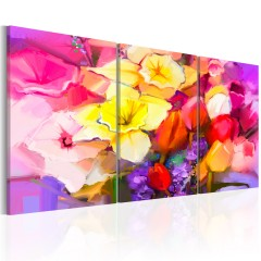 Artgeist Wandbild - Rainbow Bouquet