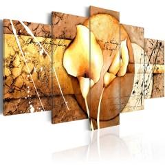 Artgeist Wandbild - The Secret of Calla Lily - Gold