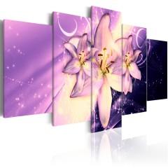 Artgeist Wandbild - Purple Galaxy
