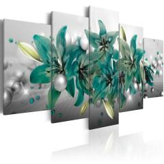 Artgeist Wandbild - Turquoise Bouquet