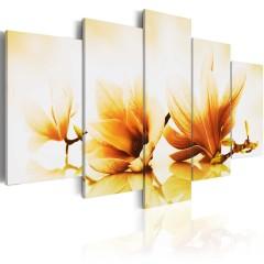 Artgeist Wandbild - Bernstein Magnolien