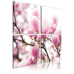 Artgeist Wandbild - Blühender Magnolienbaum