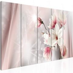 Artgeist Wandbild - Dazzling Magnolias (5 Parts) Narrow