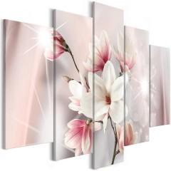 Artgeist Wandbild - Dazzling Magnolias (5 Parts) Wide