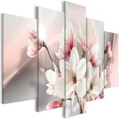 Artgeist Wandbild - Magnolia in Bloom (5 Parts) Wide