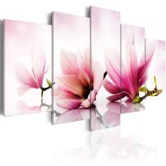 Artgeist Wandbild - magnolie mit großen blättern
