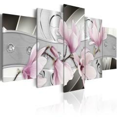 Artgeist Wandbild - Magnolien aus Stahl