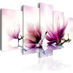 Artgeist Wandbild - Rosa Blüten: Magnolien