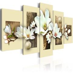 Artgeist Wandbild - Textur und Magnolia