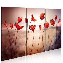 Artgeist Wandbild - Bright red poppies
