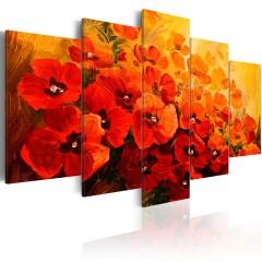 Artgeist Wandbild - Land of Poppies