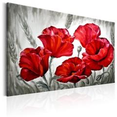 Artgeist Wandbild - Poppies in Wheat