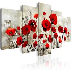 Artgeist Wandbild - Scarlet Field